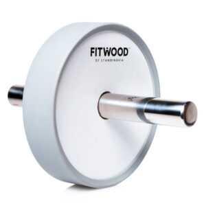 FitWood Kjerag Ab Wheel - Hvid Træ / Rustfri Stål Håndtag / Grå Ring
