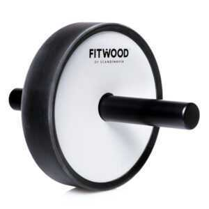 FitWood Kjerag Ab Wheel - Hvid Træ / Sort Alu. Håndtag / Sort Ring