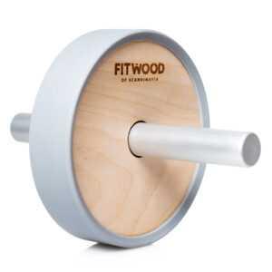 FitWood Kjerag Ab Wheel - Træ / Grå Alu. Håndtag / Grå Ring