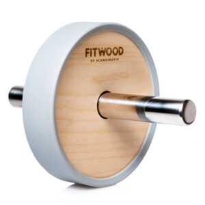 FitWood Kjerag Ab Wheel - Træ / Rustfri Stål Håndtag / Grå Ring