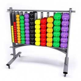 Jordan Neopren håndvægte inkl rack 0-10 kg