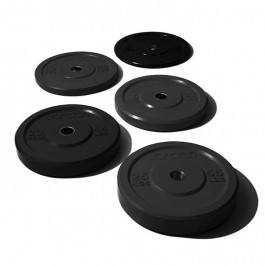 Jordan Olympisk træning vægtskive sort gummi (rund)