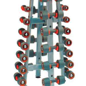 Reebok Rack Rubber Dumbbell Håndvægt Opbevaringsstativ
