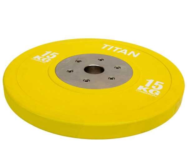 Titan BOX Elite Bumper Plate Vægtskive 15kg