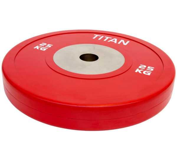 Titan BOX Elite Bumper Plate Vægtskive 25kg
