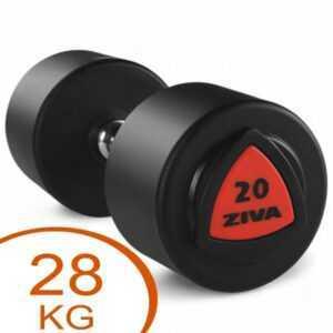 Ziva Rubber faste håndvægte 28kg gummi (2 stk.)