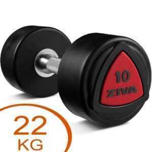 Ziva Urethane faste håndvægte 22kg gummi (2 stk.)