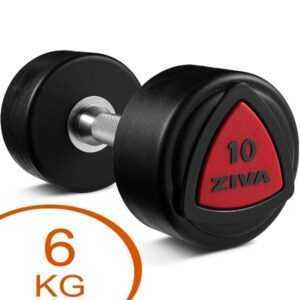 Ziva Urethane faste håndvægte 6kg gummi (2 stk.)