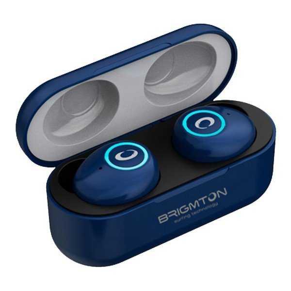 Brigmton Bml-16 - Trådløs In-ear Bluetooth Høretelefoner Med Mikrofon - Blå