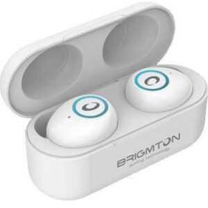 Brigmton Bml-16 - Trådløs In-ear Bluetooth Høretelefoner Med Mikrofon - Hvid