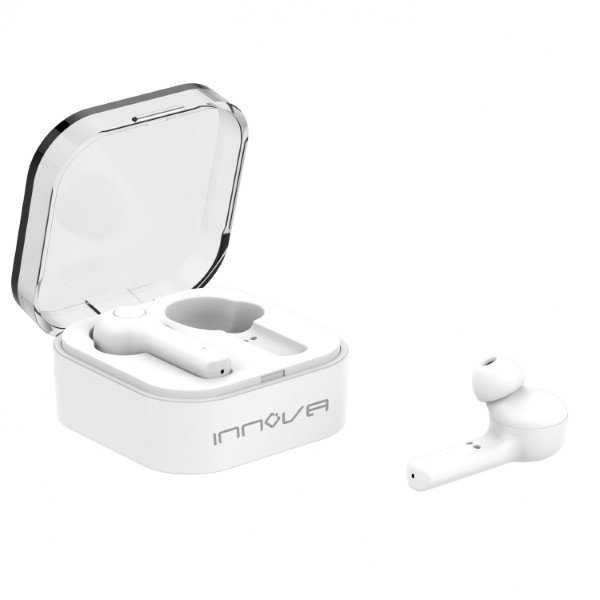 Innova Aur-20 - Ledningsfri Trådløs In-ear Earbud Høretelefoner - Hvid