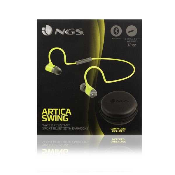 Ngs Artica Swing - Trådløs In-ear Bluetooth Sports Høretelefoner - Gul