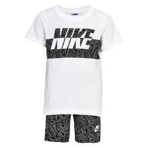 Childrens Sports Outfit Nike 926-023 Hvid Sort 24 måneder