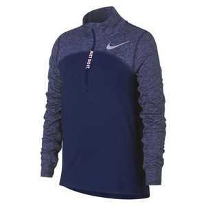 Langærmet T-shirt til Børn Nike G NK DRY ELMNT TOP LS HZ Blå S