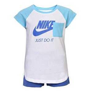 Sports Outfit for Baby Nike 919-B9A Blå Hvid 12 måneder