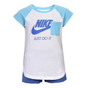 Sports Outfit for Baby Nike 919-B9A Blå Hvid 24 måneder