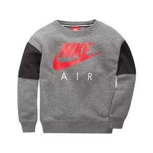 Sweaters uden Hætte til Børn Nike 376S-GEH Grå Rød 5-6 år